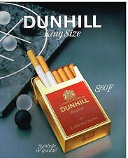 Publicité Advertising 1986 Les Cigarettes Dunhill