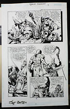 CREATURE COMMANDOS #7 PAGE 9 2000 ORIGINAL ART-BY SCOT EATON & RAY KRYSSING