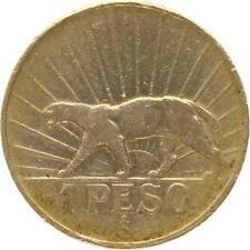 L4296 Uruguay 1 Peso 1942 Silver Argent -  Make offer