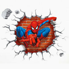 3D Spiderman Wall Stickers Cartoon Mural Decals Home Room Kid Nursery Decoration