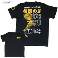 The Seven Deadly Sins Meliodas Japan Anime Comic Print T-shirts L Black Cotton