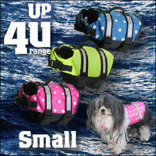 Small POLKA DOT (or dotless) dog life jacket lifejacket