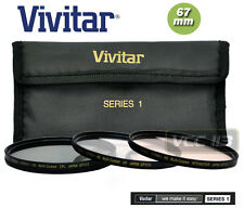 Vivitar Series1 67mm Filter Kit UV+Circular Polarizer CPL +INTENSIFIER WARM LENS