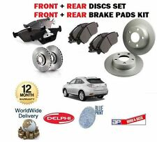FOR LEXUS RX300 RX400H RX350 2003  FRONT + REAR BRAKE DISCS SET + DISC PADS KIT