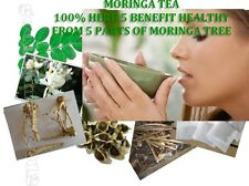 60 Tea Bags HEALTHY HERB 5 PARTS OF MORINGA OLEIFERA TREE RICH BENEFITS HERBAL