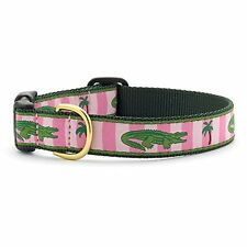 New NWT Fun Dog Puppy Up Country Alligator Collar Medium Wide High Quality