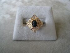 14K Yellow Gold Ladies Sapphire And Diamond Fashion Ring .50ct