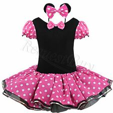 Minnie Mouse Kids Girl Toddler Tutu Skirt Polka Dot Party Fancy Dress Up Costume