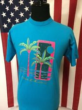 Vtg 90s Vaporwave Dallas, Texas T-Shirt mens XL Neon Palms made in usa Synthwave