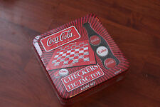 NEW & SEALED USA VERSION COCA-COLA DRAUGHTS/CHECKERS & TIC TAC TOE.