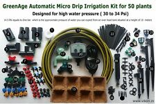 GreenAge Automatic Micro Drip Irrigation Kit for 50 Plants( High pressure Model)