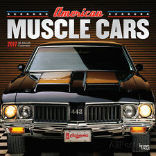 American Muscle Cars 18-Month - 2017 Wall Calendar - 12x12 - Classic Vintage