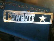 Plasma Cut Dallas Cowboys Plaque metal Sign mancave Garage/Wall Decor