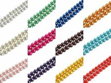 Hot31'' Strand Czech Glass Pearl Round Beads  4mm 210PCS Spacer Loose Bead Mixed