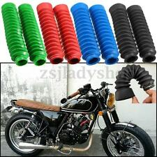 Pair Motorcycle Rubber Front Fork Cover Protector Gaiters Boot Gaitor For Harley
