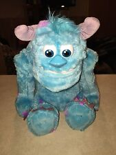 "Spinmaster Disney Monster' Inc.TALKING and FACIAL animated SULLEY Plush 13"" Tall"