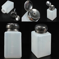 200ML Empty Pump Dispenser For Nail Art Polish Acrylic Liquid  Bottle Tool