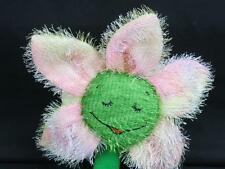 WALMART SPRINGTIME DAISY FLOWER PINK YELLOW-GREEN BIG SMILE EYES CLOSED PLUSH