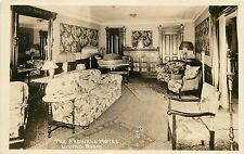 1910-1930 Real Photo PC Ardwell Hotel Interior Design Living Room Unknown US Loc