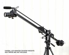 FREE BAG Filmcity 4ft Studio jib Video Camera Crane Weights for LCD mounting