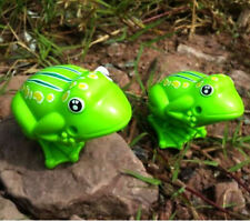 2016 Kids Plastic Toys Classic Green Frog Clockwork Jumping Wind Up Childhood