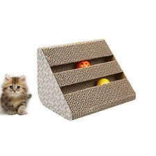 Pet Cat Kitten Corrugated Scratch Board Pad Scratcher Bed Mat Claws Care Toy FUN