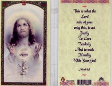 This is What The Lord Asks of You Catholic Prayer Card Holy Cards HC9-390E