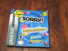 NEW Sorry/Aggravation/Scrabble Junior (Nintendo Game Boy Advance, 2005) GBA DS