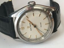 1951 Vintage Rolex 6022 Oyster Precision Winding 17J RUNS STAINLESS STEEL