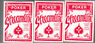 Playing cards, Streamline Poker Cards, Red, 3 Decks, Brand New, Sealed