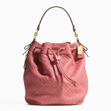 [NEW w/ TAG]! COACH MADISON WOVEN LEATHER MARIELLE ROSE DRAWSTRING HANDBAG $598
