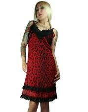 NEW Too Fast Red Leopard Ithaca Slip Dress Gothic Punk Lolita Pinup M