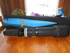 VERY RARE NIKON NIKKOR-P 800mm f8 LENS, CAPS, PADDED CARRYING BAG, VERY NICE!