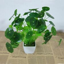 Artificial Green Leaves Poted Plant Flower Home Office Wedding Bonsai Decor
