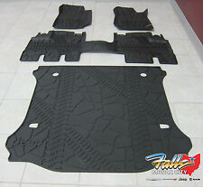 2014-16 Jeep Wrangler JK Unlimited RHD Slush Floor Mats and Cargo Tray Mopar OEM