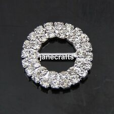 25pcs 19mm Rhinestone Buckle Invitation Ribbon Slider for Party Wedding Supplies