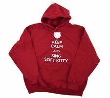 "Big Bang Theory Inspired ""Keep Calm And Sing Soft Kitty"" Sweatshirt Hoodie Sz XL"