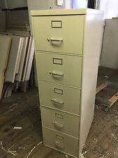 5 DRAWER LEGAL SIZE FILE CABINET by STEELCASE OFFICE FURNITURE in Putty