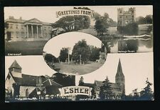Surrey ESHER Greetins From M/view c1910/20s? RP PPC