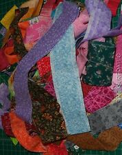Large Lot Scrap Fabric Strips Rug Braiding String Quilting 100% Cotton Applique