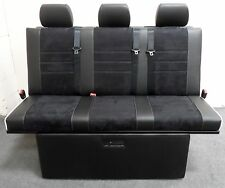 STREAMLINE EASI-LIFT FULL WIDTH UPHOLSTERED ROCK N ROLL BED + BELTS VW T4 T5