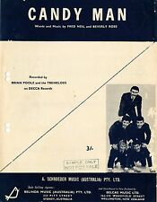 BRIAN POOLE & THE TREMELOES - CANDY MAN - VINTAGE SHEET MUSIC AUSTRALIA