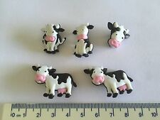 Cows black white Novelty Dress It Up buttons 8977