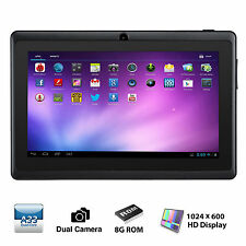 "7"" inch Android 4.4 Quad Core Tablet PC MID 8GB Dual Camera Wifi Bluetooth Black"
