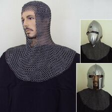 High Tensile Chainmail Coif - Perfect For LARP / Theatre Use