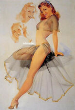 """TED WITHERS 8.5""""X11"""" PIN-UP GIRL POSTER LINGERIE SEXY PHOTO HOT PINUP ART PRINT!"""