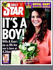 Prince William & Kate Middleton Birth Of Royal Baby Daily Star Newspaper