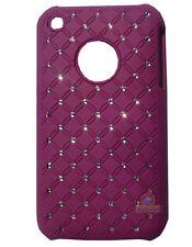 Coque rigide avec strass coloris violet Apple iPhone 3G/3GS