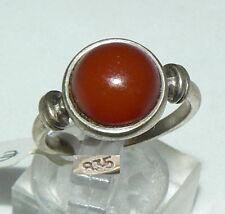 Ring aus 835er Silber mit Bernstein/Amber, Gr. 56/Ø 17,8 mm  (da4381)