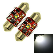 2Pc White 31MM 1 CREE SMD Canbus Error Free Festoon Dome LED Light Bulb DE3425